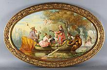 19th C. Italian Romantic Scene, O/C