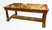 Late 19th C. Library Table