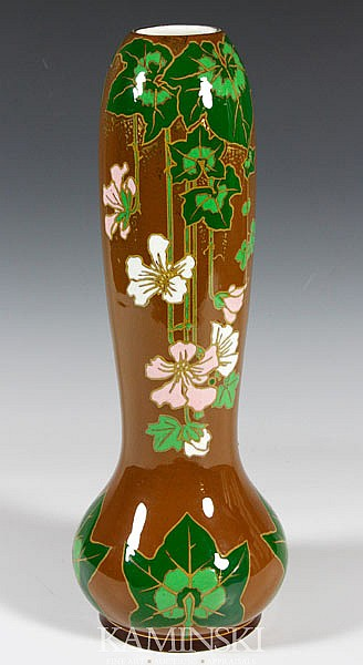 Boch Freres Floral Vase