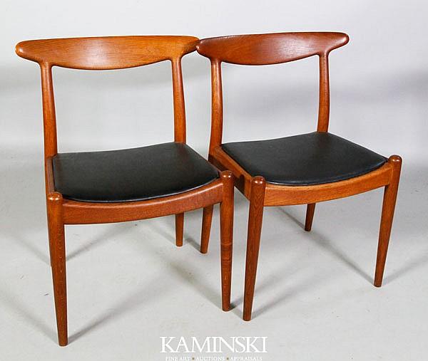 Pair Hans Wegner Side Chairs