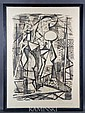 Marx, Abstraced Figures, Lithograph