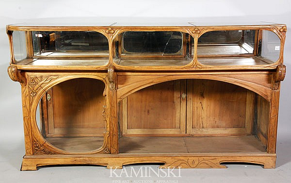 French Carved Display Cabinet