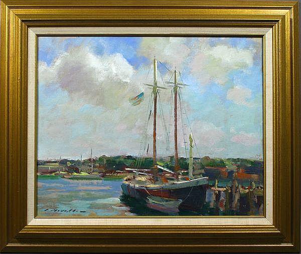 Charles Movalli (American, born 1945), Sailboats