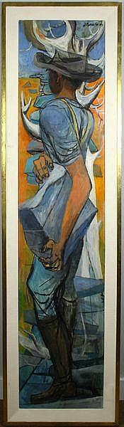 Anton Refregier (Russian/American, 1905-1979), Man