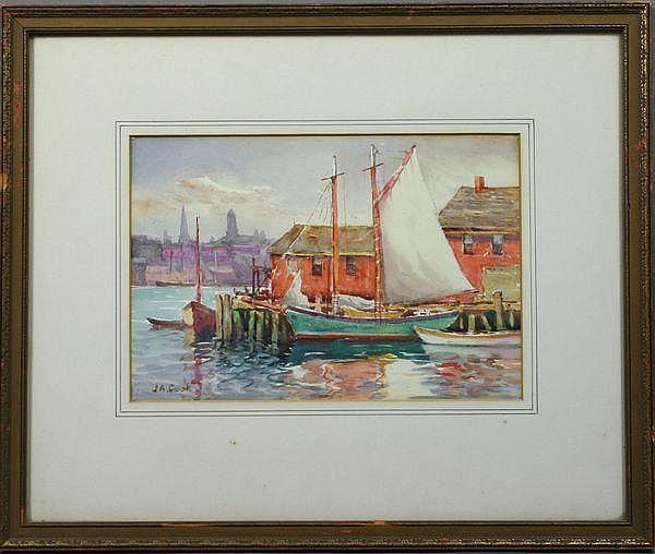 John A. Cook (American, 1870-1936), Sailboats in