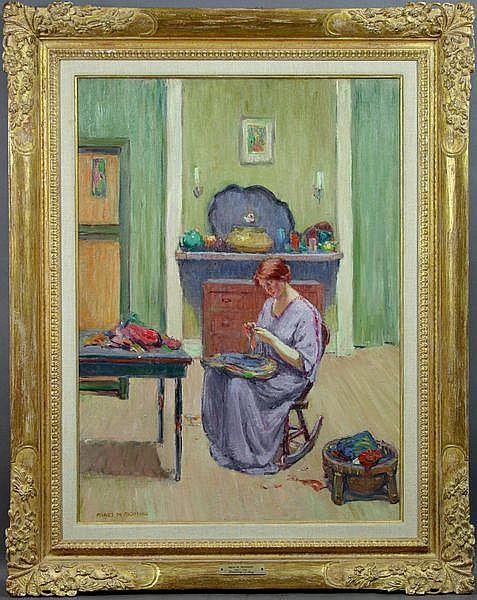 Agnes M. Richmond (American, 1870-1964), Braiding