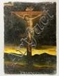 18th C., Crucifixion Scene, O/C