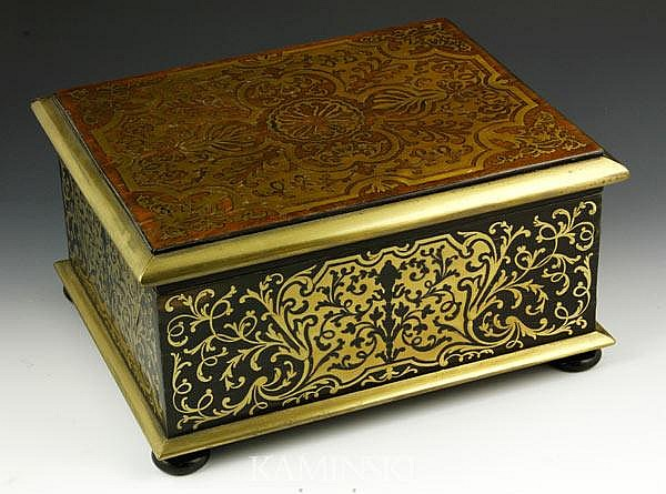 19th C. English Boulle Letter Box