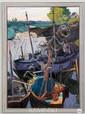 Cherkes, Harbor Scene , O/P