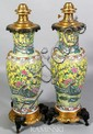 18th/ 19th C. Pair Chinese Famille Verte Vases