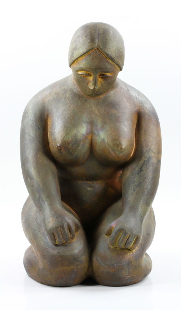 Tudzarov, Kneeling Female Nude, Clay