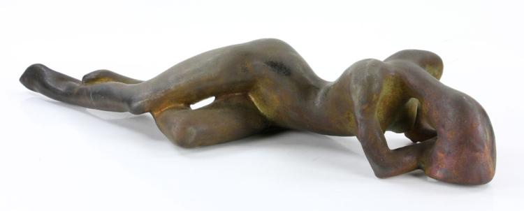 Tudzarov, Reclining Female Nude, Clay