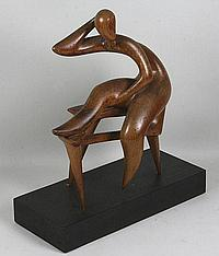 Carved Wood Sculpture by Alfredo Halegua