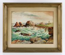 Chausson, Rocky Coastline, Watercolor