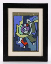 Hoelzel, Abstract, Pastel on Paper