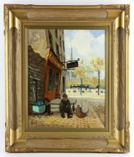 Haranz, Paris View, Oil on Canvas