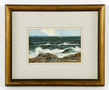 Santoro, Seascape, Watercolor