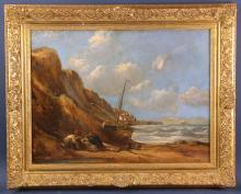 Signed Lev Lagorio, Shipwrecked Sailboat