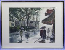 Aiden Lassell Ripley, Figures on a Rainy City Street