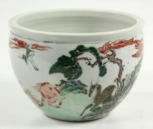 17th/18th C. Chinese Famille Rose Brush Washer