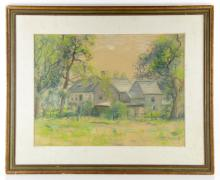 Goodwin, Rural Home, Pastel on Paper