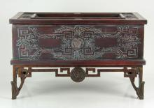 Chinese Hand Carved Wooden Box