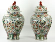 Large Pr. Chinese Famille Verte Jars