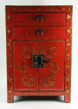 Small 19th C. Chinese Lacquered Cabinet