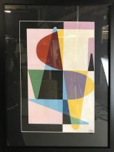 Etienne Beothy, Abstract, Gouache