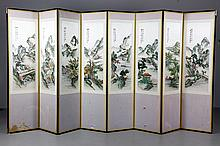 Chinese Embroidered Panel Screens