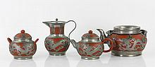 Chinese Terra Cotta Tea Set