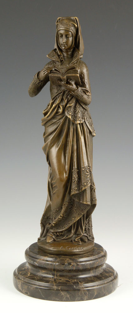 Carrier, Noble Lady with Book, Bronze