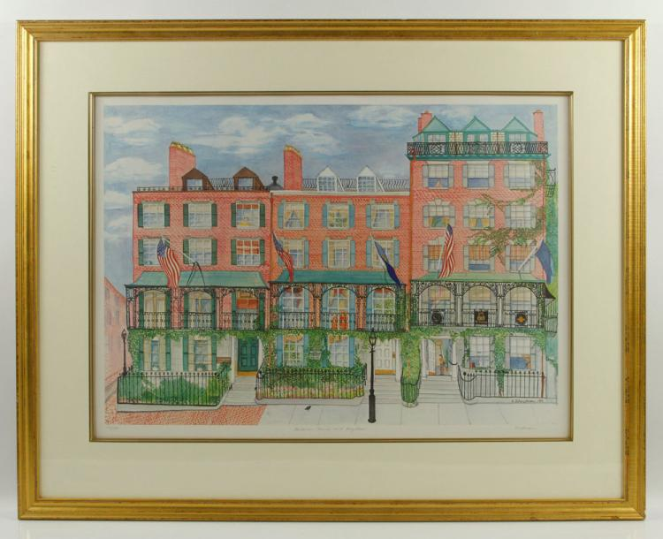 Shectman, Francis Parkman House, Colored Print
