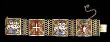 Portuguese Silver and Enamel Bracelet
