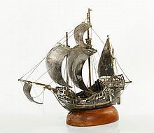Portuguese Silver Ship Model