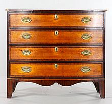 19th C. Hepplewhite Bow Front Chest