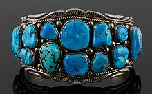 Navajo Indian Sterling Silver Bracelet