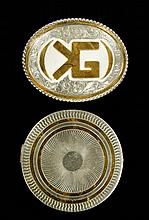Sterling Silver Belt Buckle and Compact