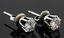 Pair of 14K Diamond Earrings