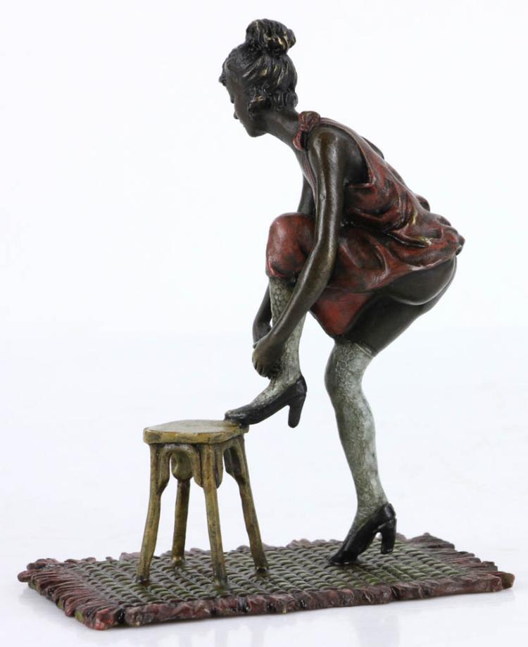 Sold Price: Erotic Austrian Vienna Cold Painted Bronze - Invalid date EST