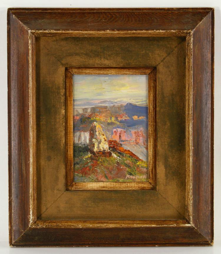 Kromer, Mountain View, Oil on Canvas