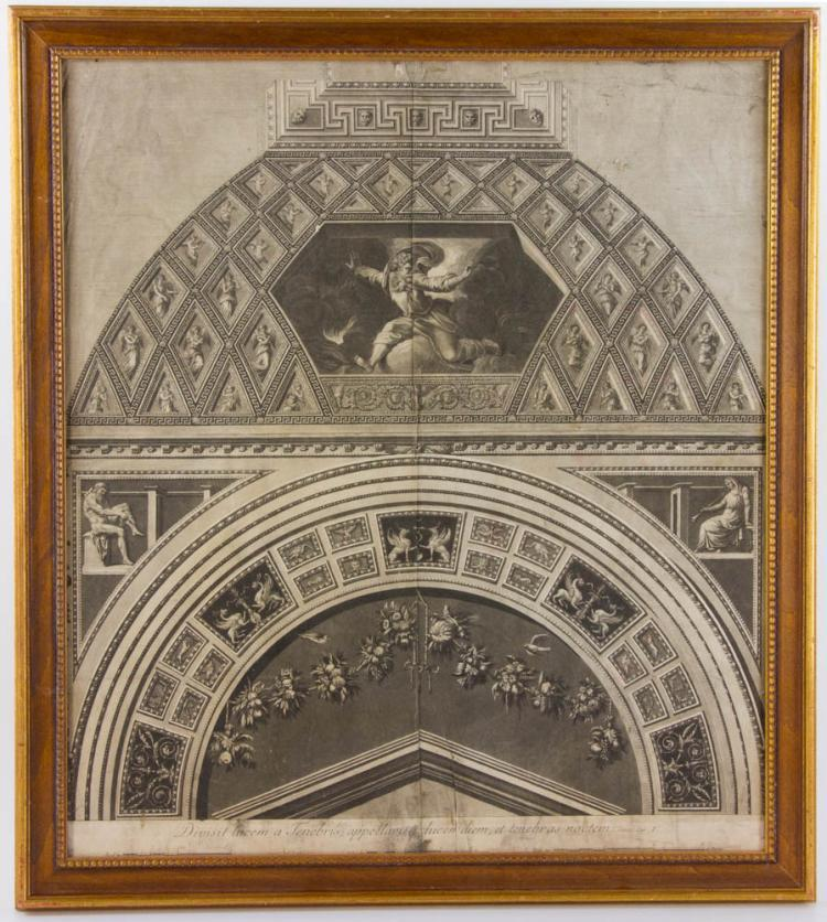 Late 18th c architectural print for Printing architectural drawings