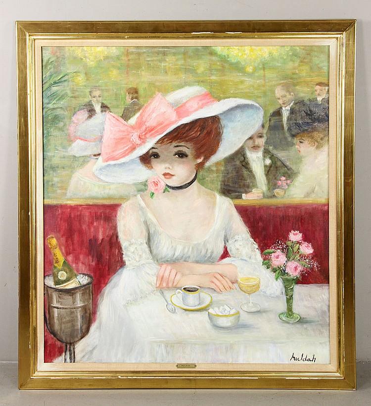 Huldah, Girl with White Hat, O/C
