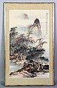 Chinese 20th C. Scroll Painting, Nianzu Hu, Click for value