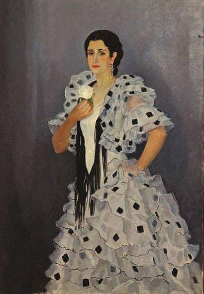 Alfonso GROSSO (1893-1983) Portrait de jeune femme