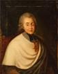 ECOLE FRANCAISE Comte Melchior de Polignac en camérier du Pape Huile sur toile. Eclats et manques, petits accidents, craquelures. Dimension : 55,5 x 38 cm