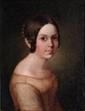 Ecole FRANCAISE vers 1840, entourage d'Hippolyte FLANDRIN Portrait de jeune fille en buste Toile Dimension : 34,5 x 27 cm