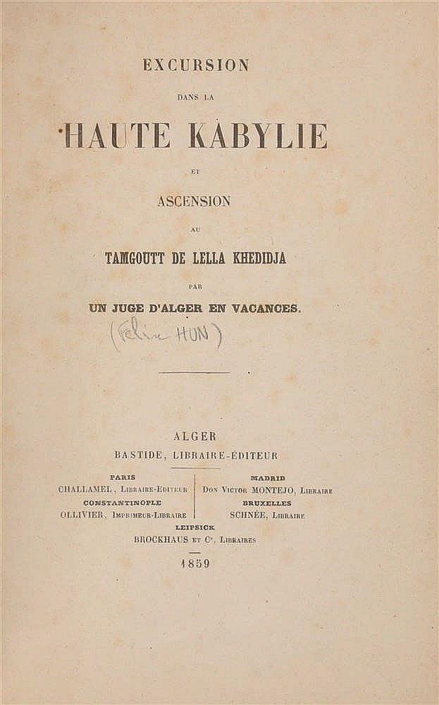 Alg rie hun f lix excursion dans la haute kabylie et for Haute kabylie
