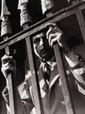 Pierre JAHAN (1909-2003) Jean Cocteau derrière les barreaux, s.d...