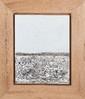François CANTE-PACOS (né en 1946)  Le marais, 2012.  Huile sur toile signée, datée et tirée au dos.  50 x 40 cm.  Large cadre en chêne clair  Voir la reproduction